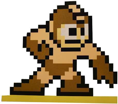 Bild på tevespelsfigur