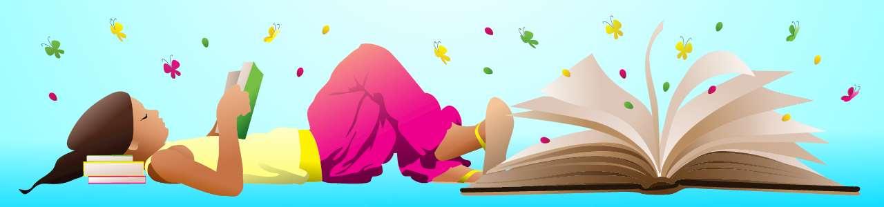 Bild på barn som läser