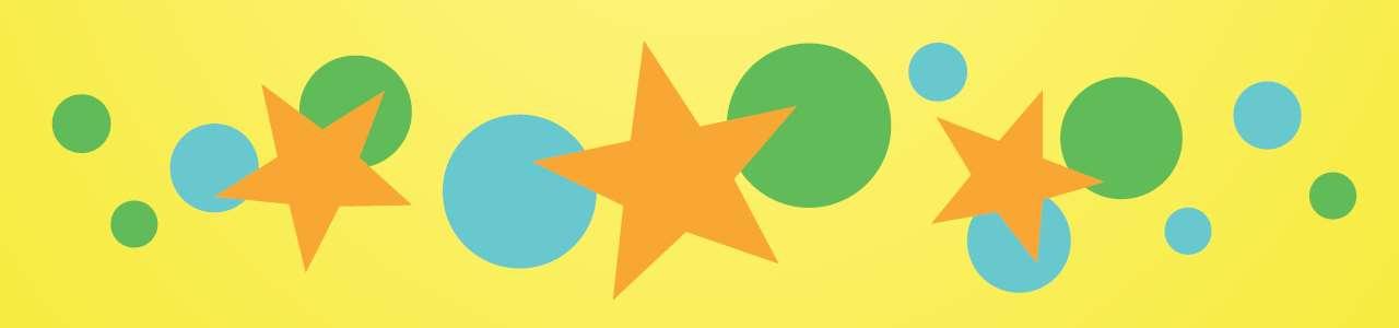 Bild på stjärnor och prickar