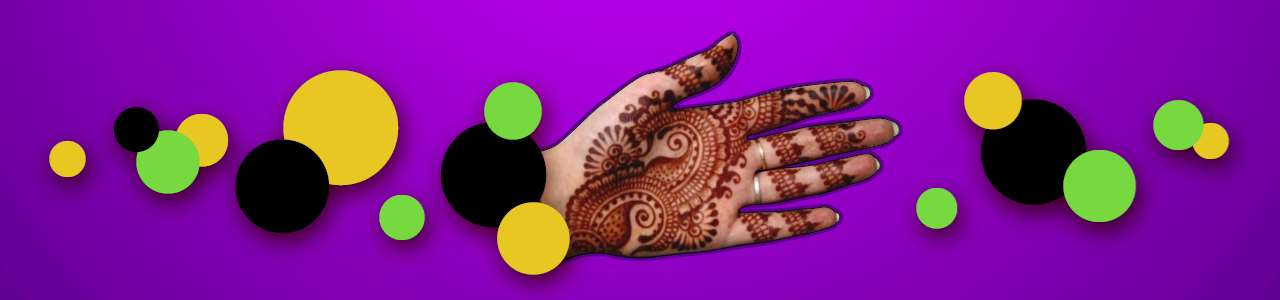 Bild på hennamålad hand