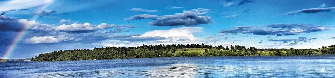 Bild på regnbåge över Birka